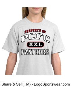 PCFC White T-shirt 100% Cotton Youth Design Zoom