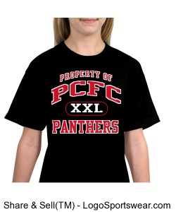 PCFC Black T-shirt 100% Cotton Youth Design Zoom