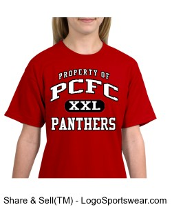 PCFC Red T-shirt 100% Cotton Youth Design Zoom